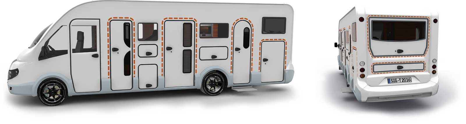 Satisfied tegos customers with Adria caravans and RVs